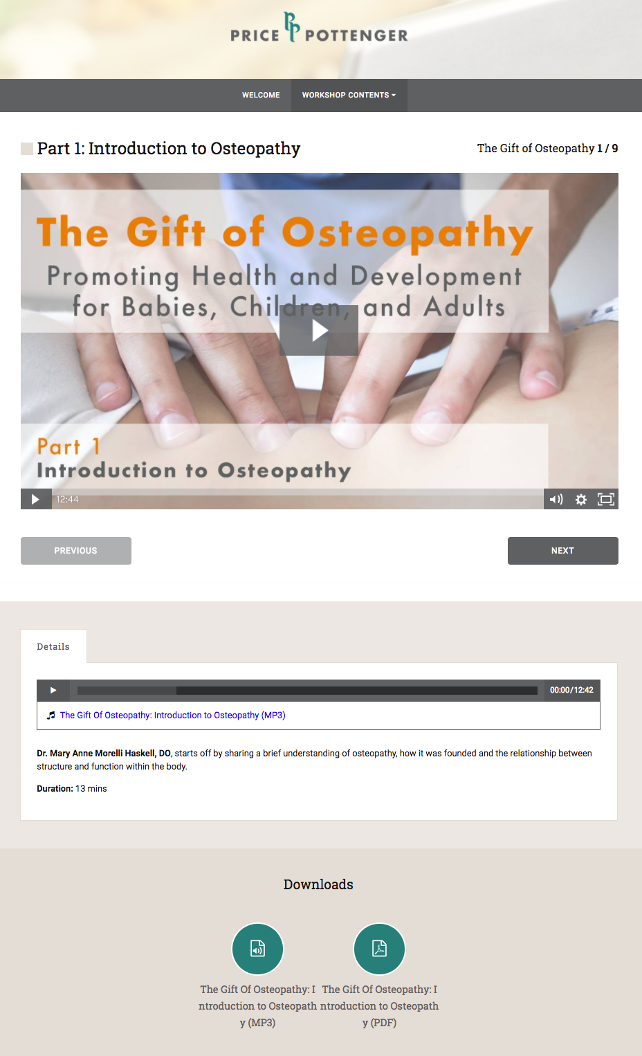 The Gift of Osteopathy - Online Course