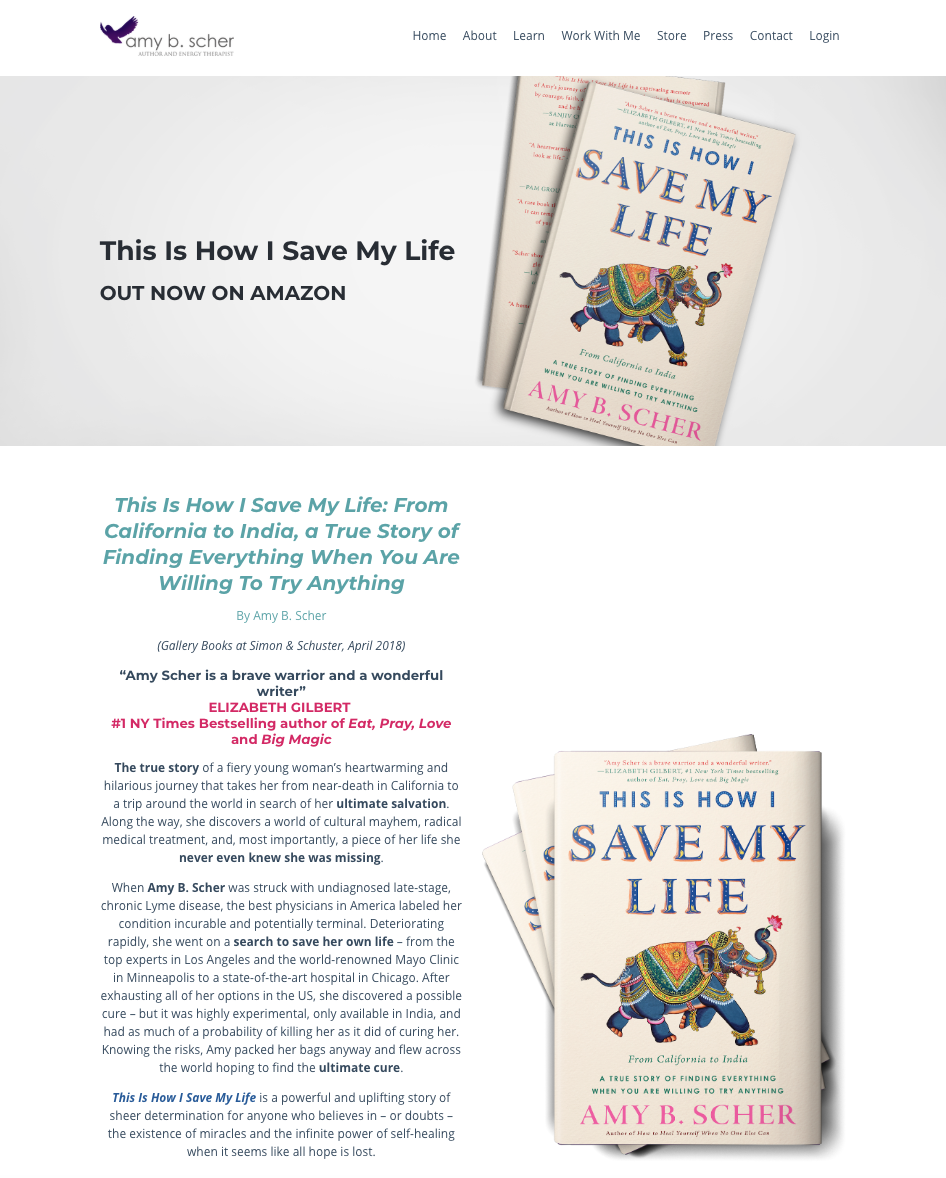 Amy B. Scher's This Is How I Save My Life book release