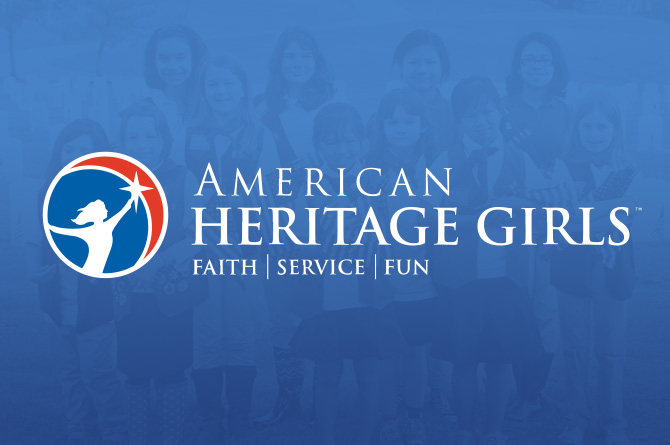 American Heritage Girls - AHG is a nationally known Christian leadership and outdoor adventure organization for girls offered at Kirk Day School to those in K-6th grade. Troop MO9522 offers girls opportunities to build relationships and learn valuable life skills in a welcoming God-honoring environment. Events include earning badges, PJ movie night, Father/Daughter Picnic, Chocolate Extravaganza and service projects.