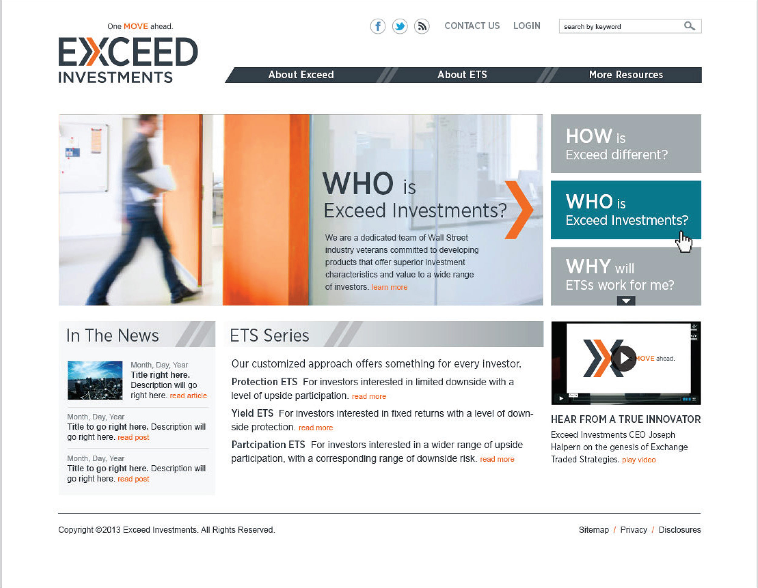 EXCEED INVESTMENTS   MARKETING STRATEGY / BRAND POSITIONING / NAMING / NOMENCLATURE / VISUAL IDENTITY / CONTENT STRATEGY / WEB DESIGN / WEB DEVELOPMENT / IMAGERY / SALES & MARKETING COLLATERAL / MARKETING & TECHNOLOGY SUPPORT