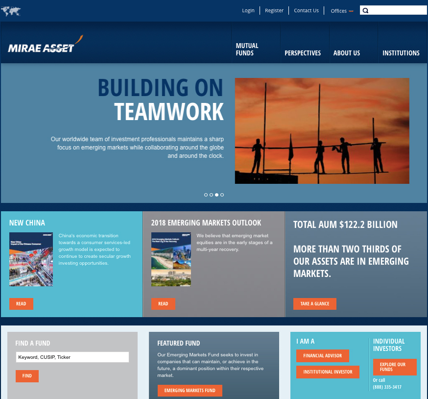 MIRAE GLOBAL ASSET   WEB CONTENT STRATEGY & DEVELOPMENT / SITE ARCHITECTURE CONSULTING