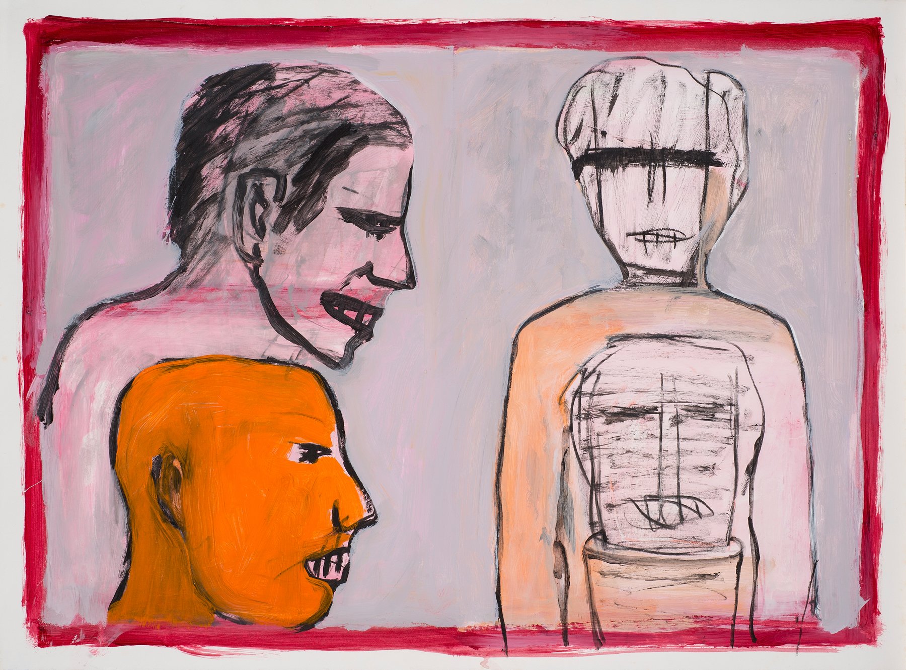 Untitled , 1984-85 Acrylic, charcoal on paper 23 x 31 in. (58 x 78 cm.) Photography courtesy of Paul Mutino
