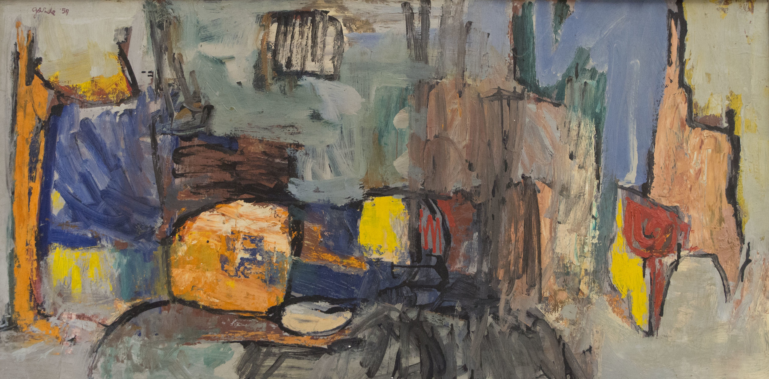 Untitled , 1959. Oil on hardboard (masonite), 24 x 48 in. (61 x 122 cm.), Private Collection