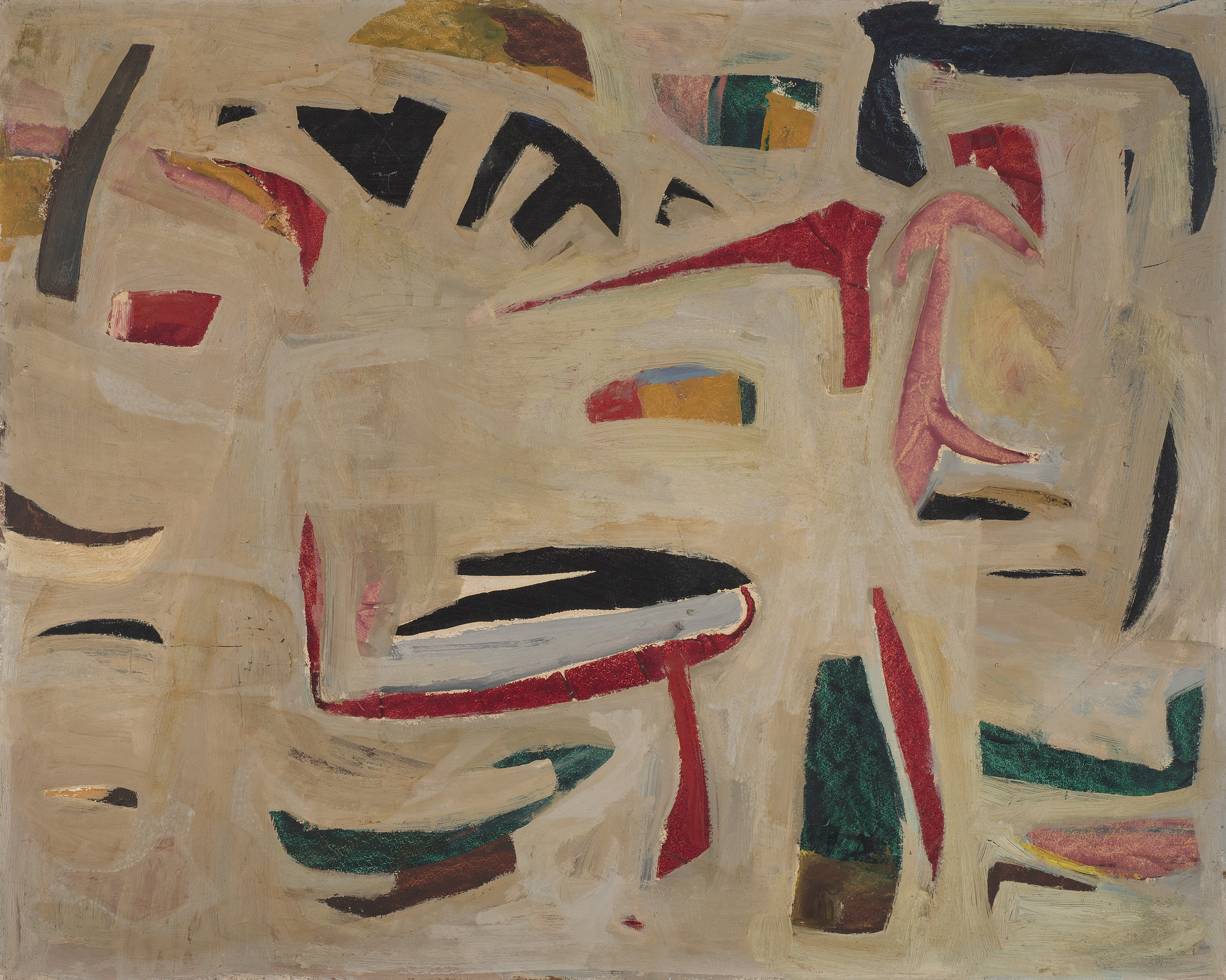 Untitled , 1955-56. Oil on hardboard (masonite), 24 x 30 in., (61 x 76 cm.), Private Collection