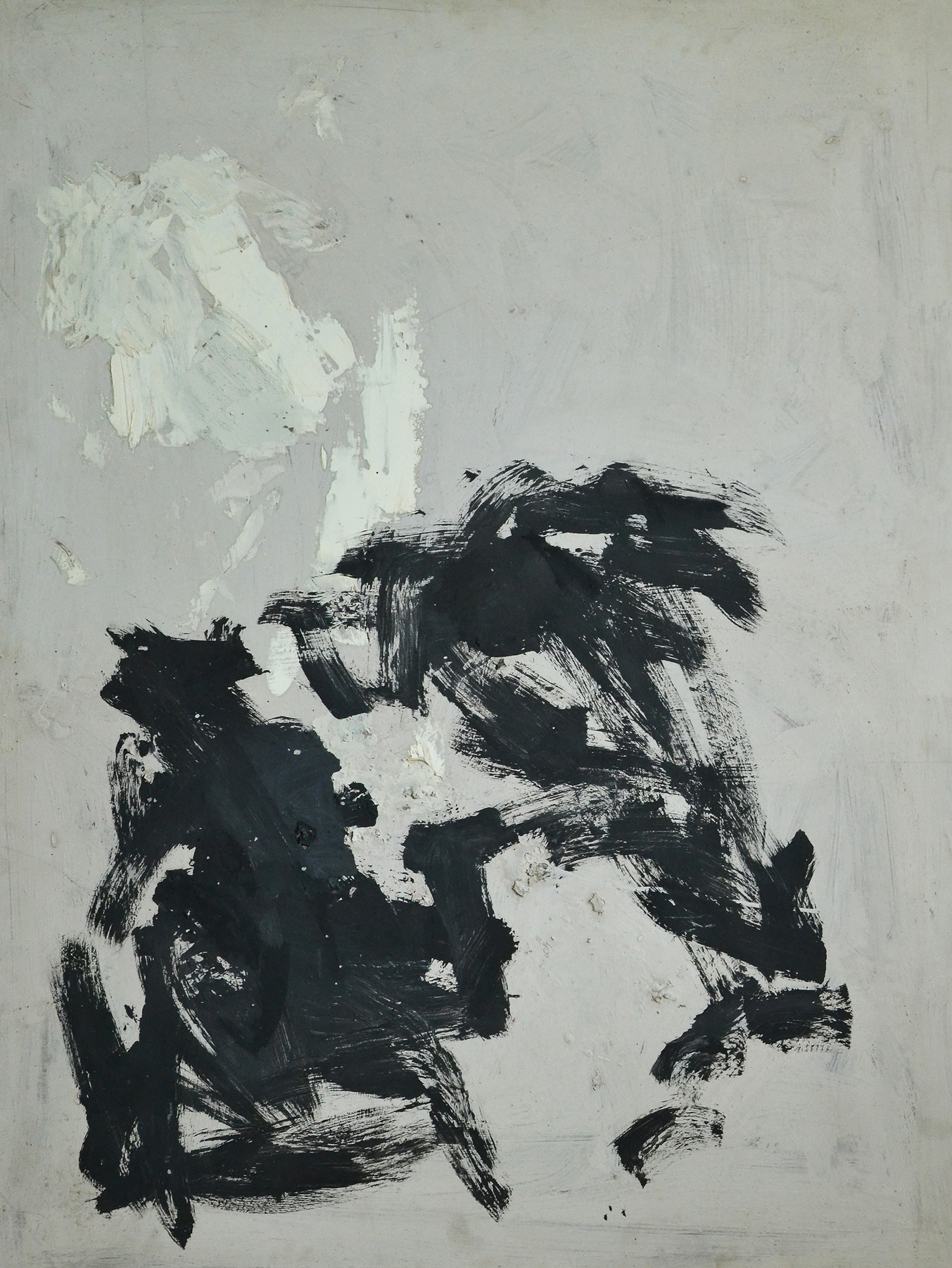 Landscape , 1968. Oil on hardboard (masonite), 48 x 36 in. (122 x 91.4 cm.)