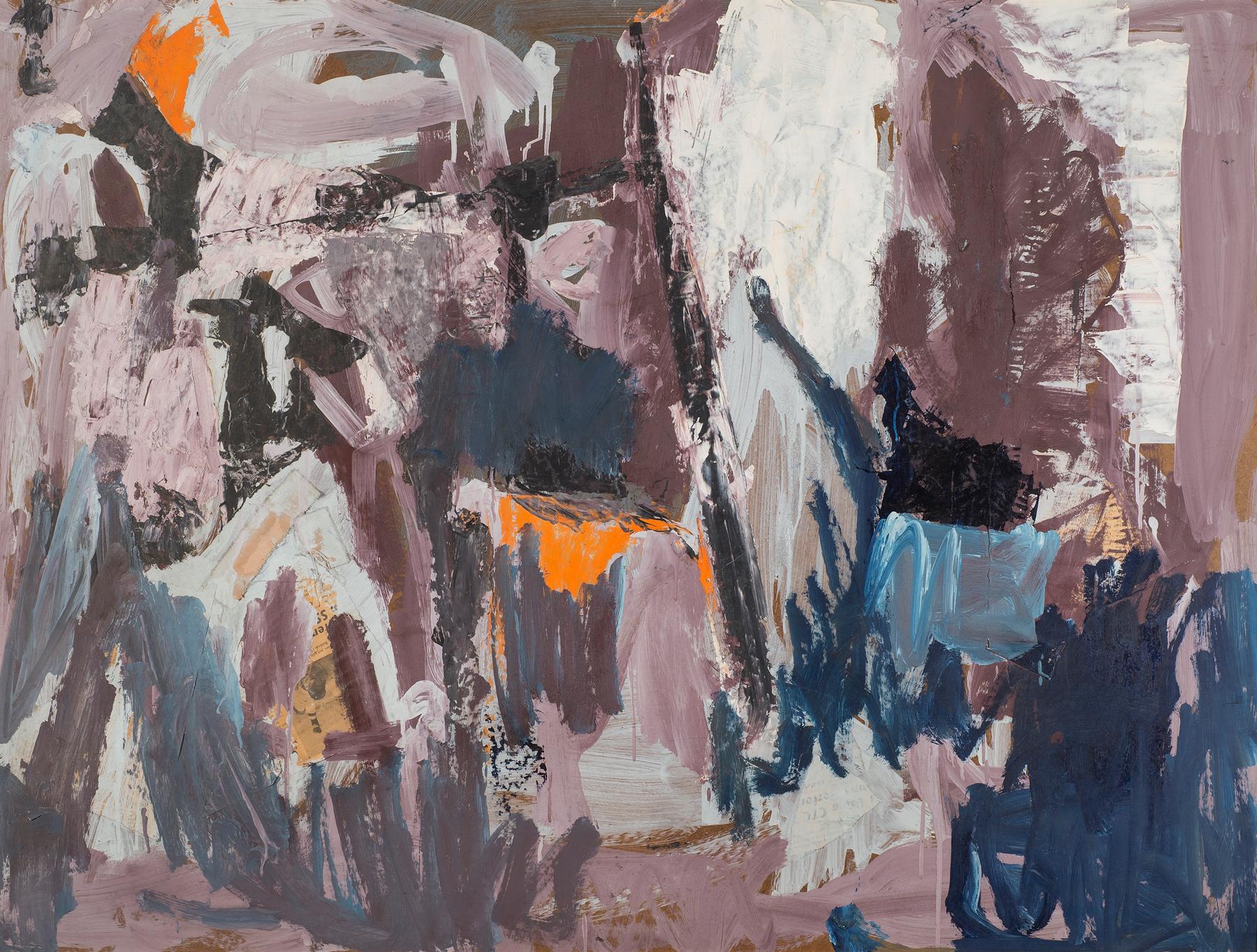 Landscape , 1967. Oil on hardboard (masonite), 36 x 48 in. (91.4 x 122 cm.)