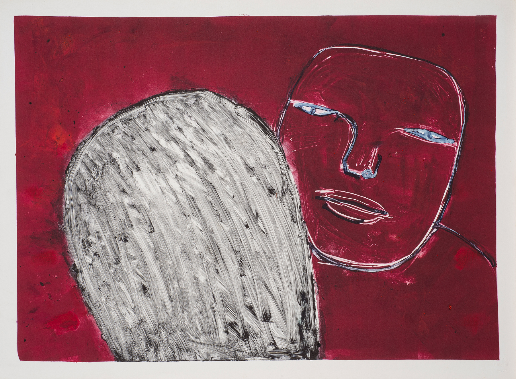 Untitled , ca. 1987. Monotype on paper, 13.5 x 19 in. (34 x 48 cm.)