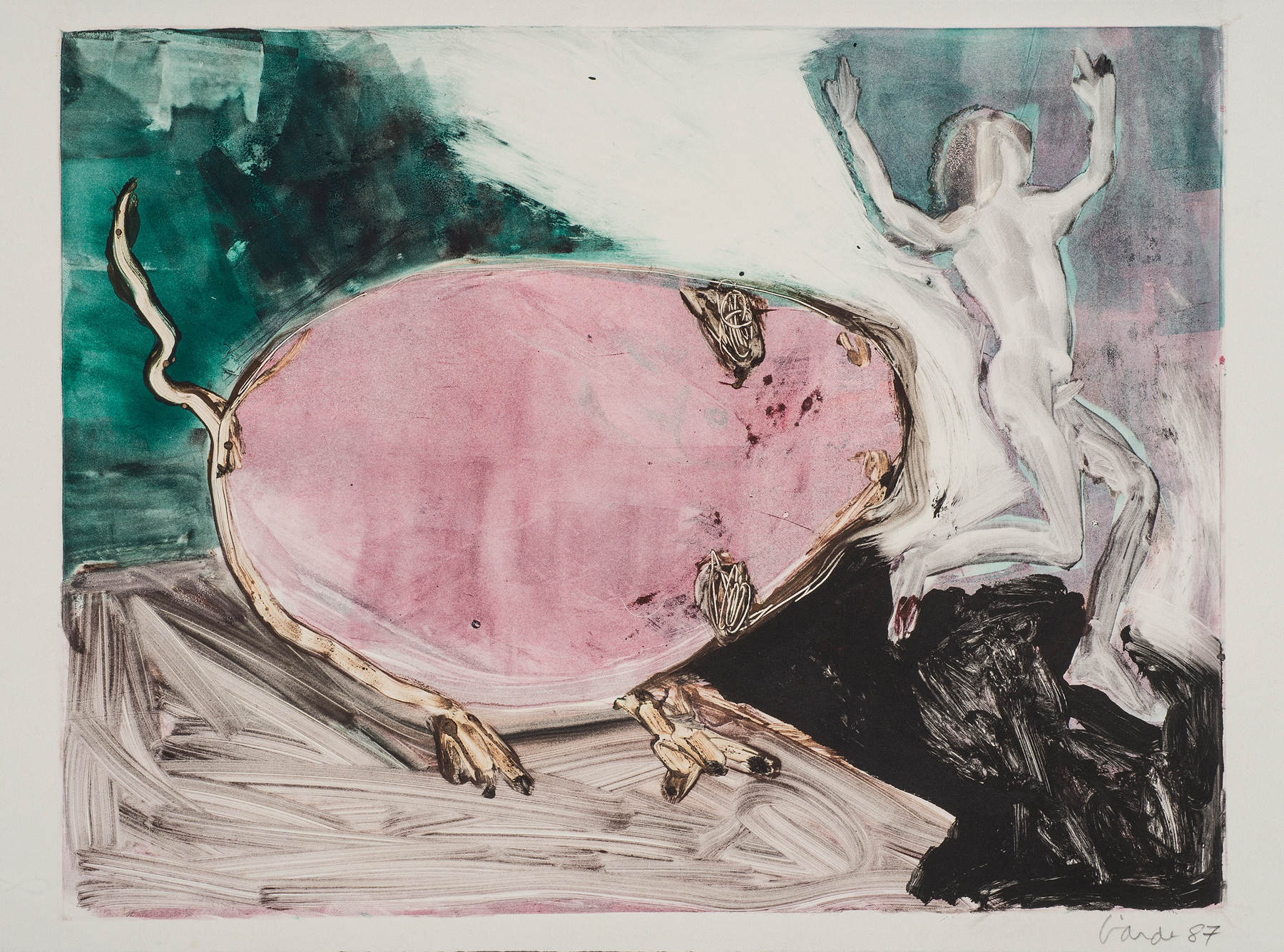 Untitled , 1987. Monotype on paper, 13.5 x 19 in. (34 x 48 cm.)