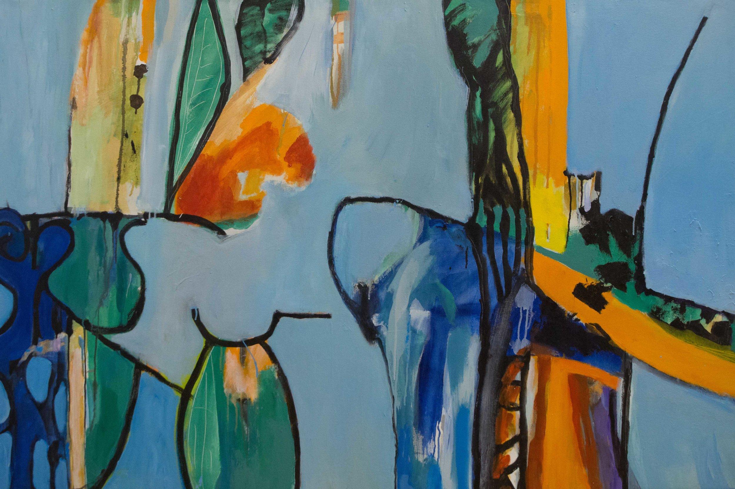 Growthing , 2006 Acrylic on canvas 45 x 62 in. (114 x 157 cm.) Photography courtesy of Joshua DeMello