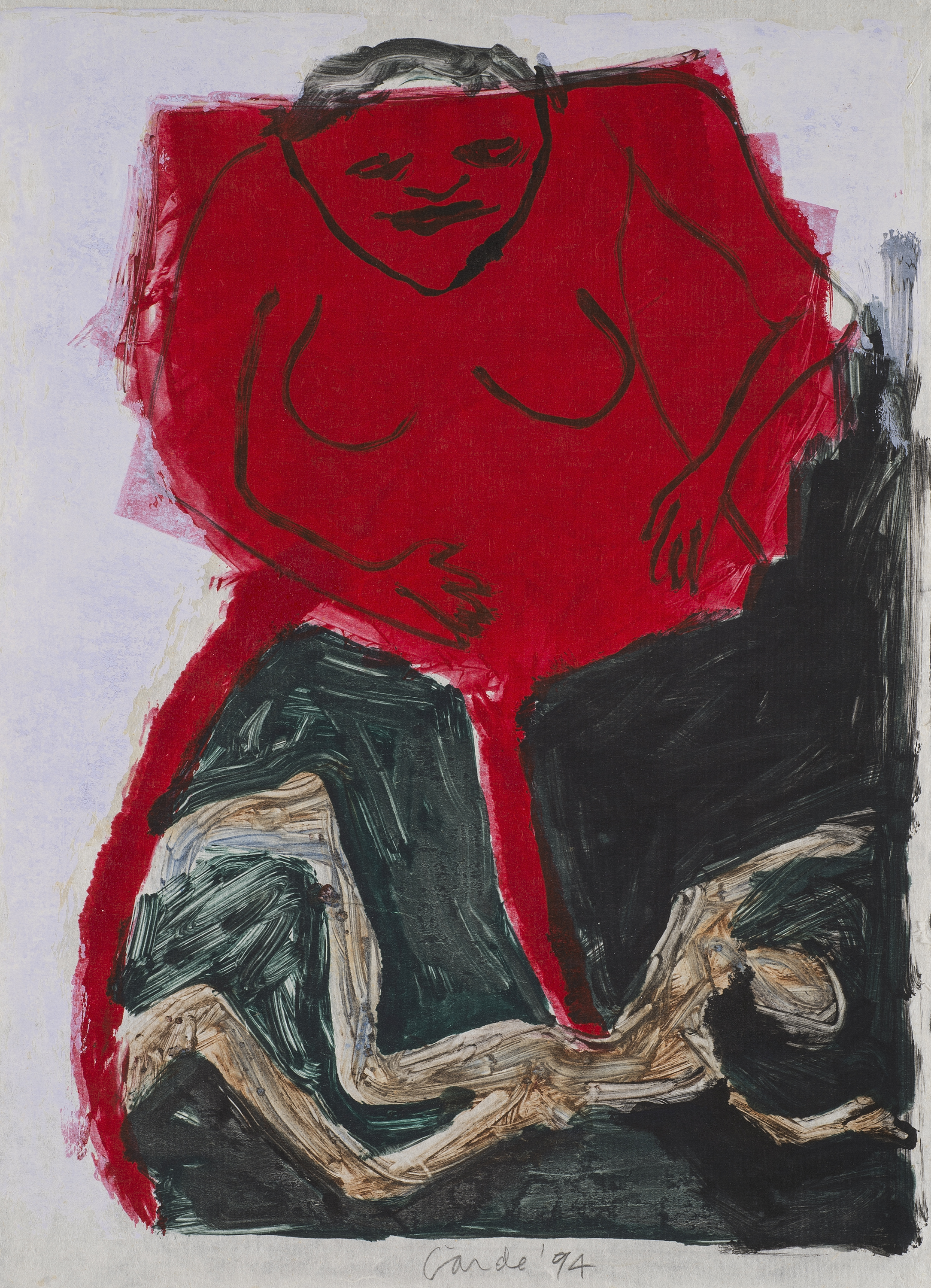 Untitled , 1987/1994 Monotype on paper 17.5 x 13 in. (44.5 x 33 cm.)