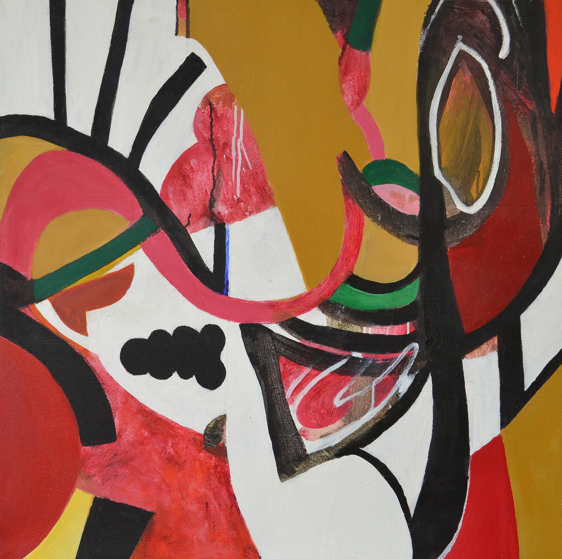 Jazz I , 2005. Acrylic on canvas, 46 x 44 in. (117 x 112 cm.)