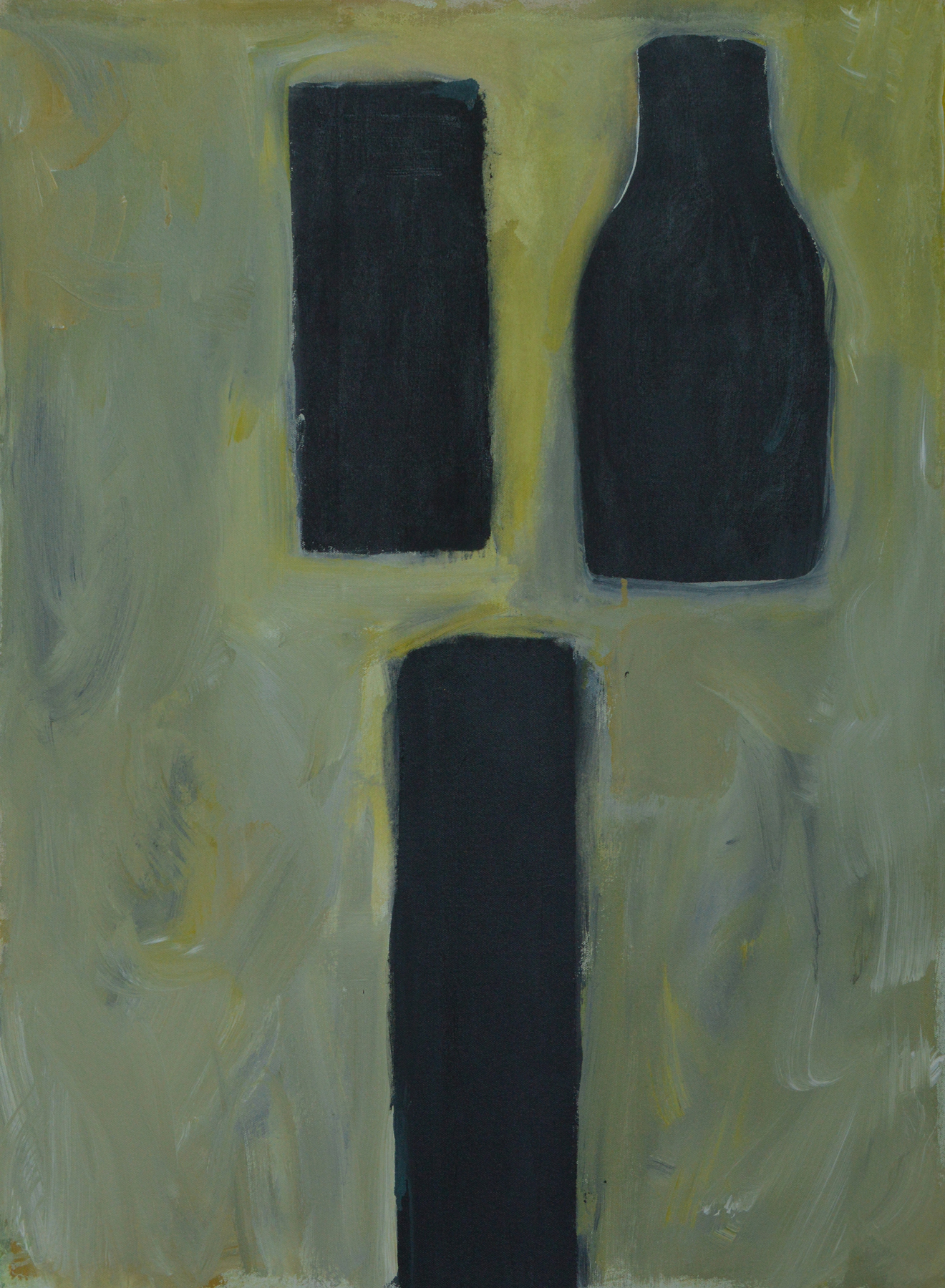 Three Dark , 2009. Acrylic on canvas, 34 x 25 in. (86.4 x 63.5 cm.)