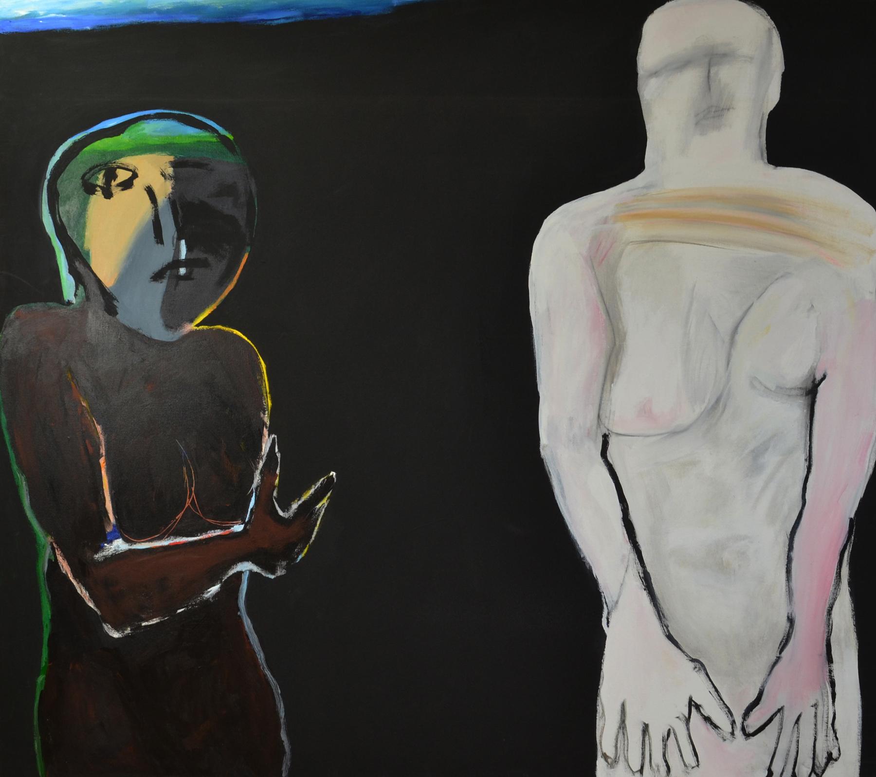 Modeler , 2001. Acrylic on canvas, 55 x 60 in. (140 x 152 cm.)
