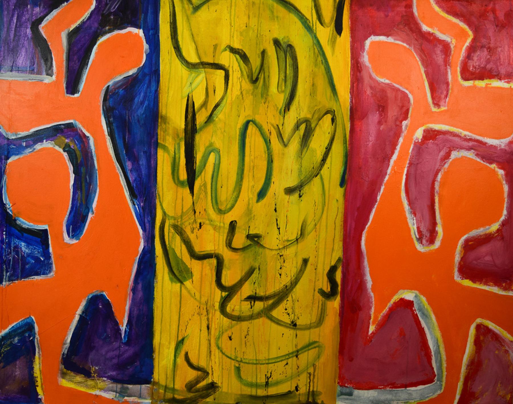 Split , 2003. Acrylic on canvas, 44 x 55 in. (112 x 140 cm.)