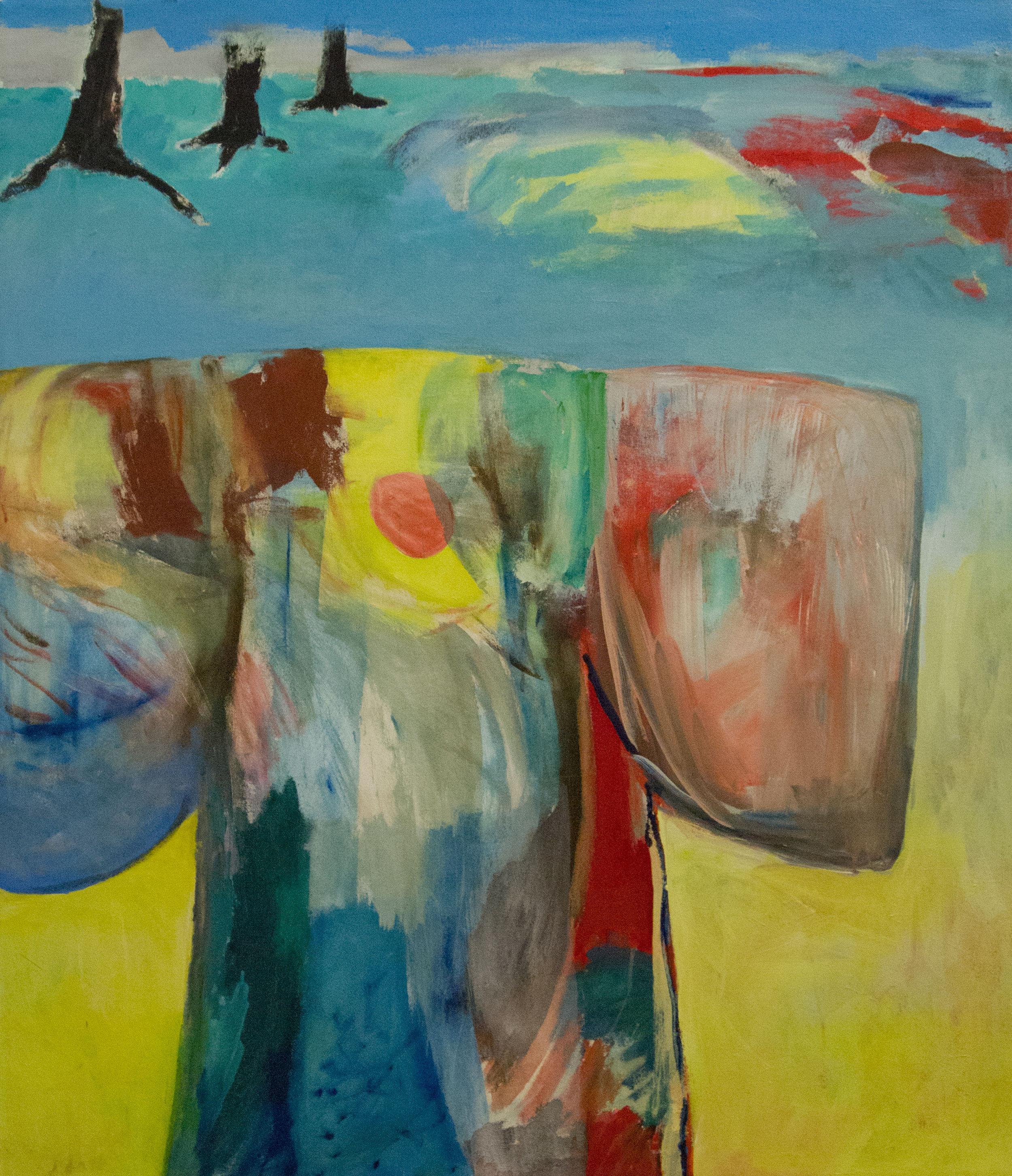 Landscape Kimono, 2002. Acrylic on canvas, 55 x 48 in. ( 140 x 122 cm. )