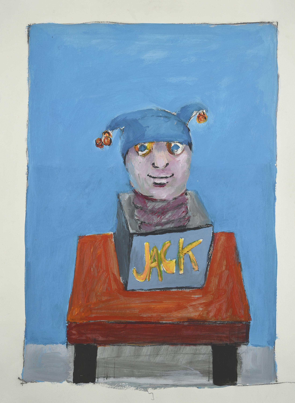 Jack, 1989. Acrylic on paper, 33 x 20 in. (84 x 56 cm.)