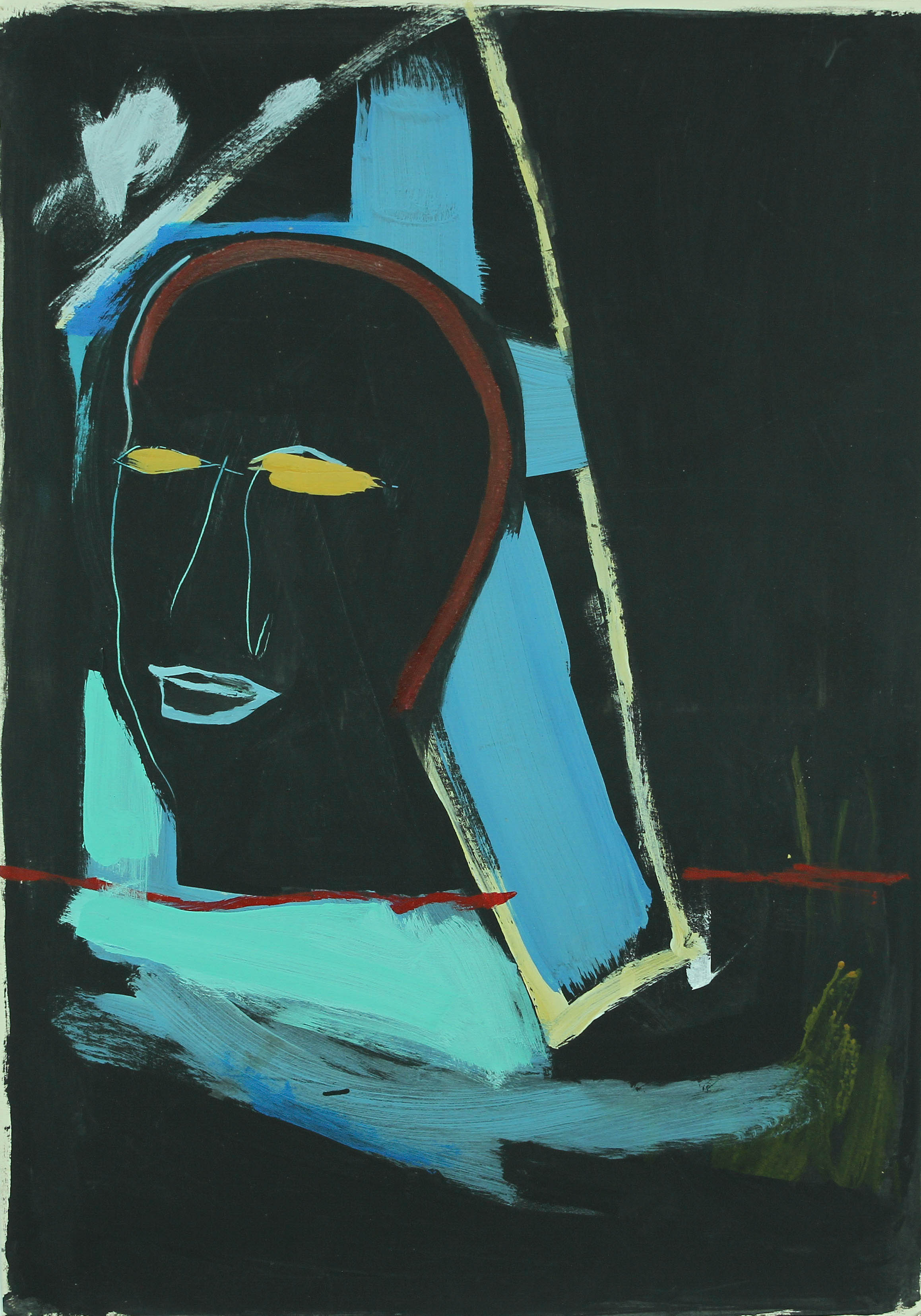 Untitled, 1989. Acrylic on paper, 27 x 19 in. (68 x 48 cm.)