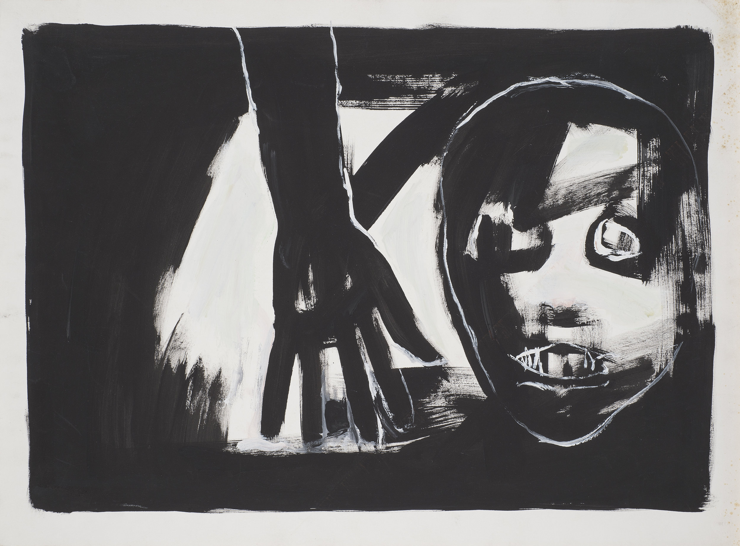 Untitled , 1986. Acrylic on paper, 30 x 22 in. (76.2 x 56 cm.)