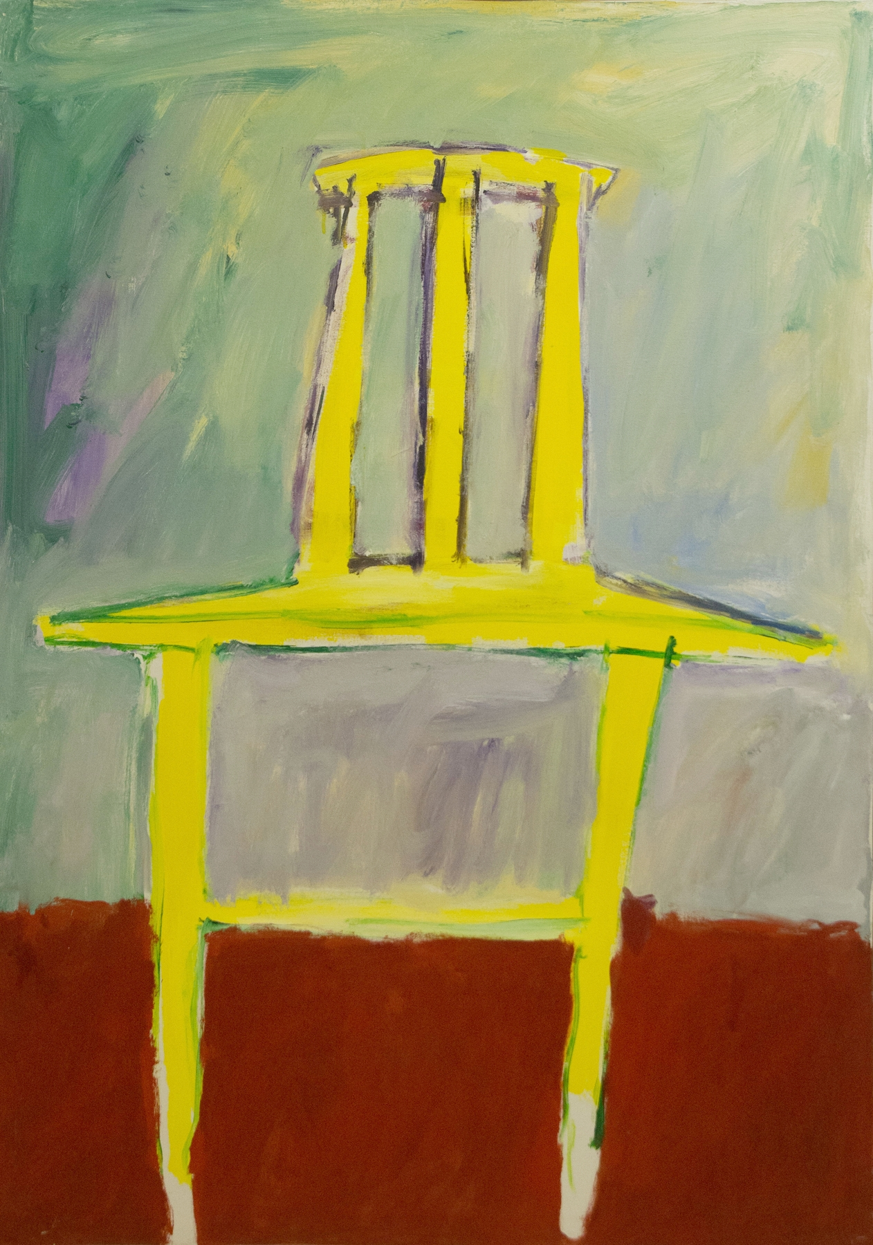 Yellow Chair , 1983. Acrylic on canvas, 56 x 40 in. ( 142 x 102 cm.)