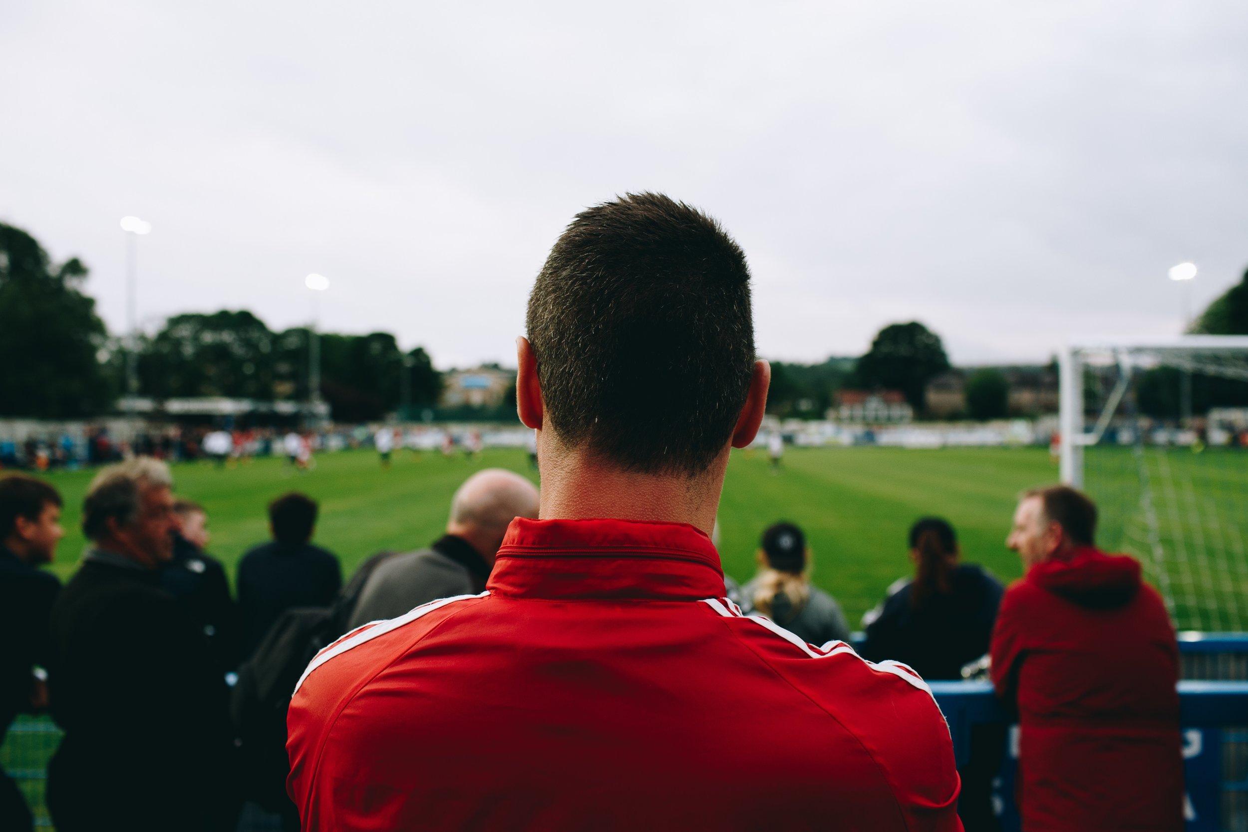 Football fan in UK