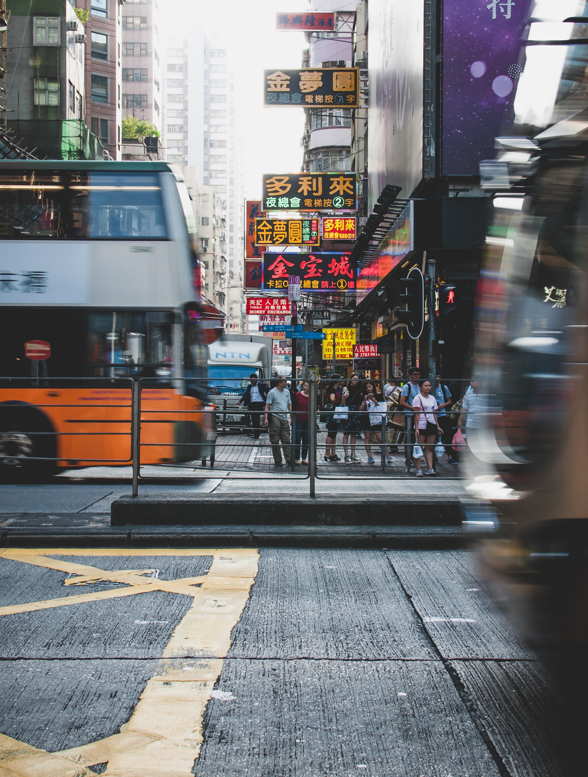 A snap of busy Mong Kok
