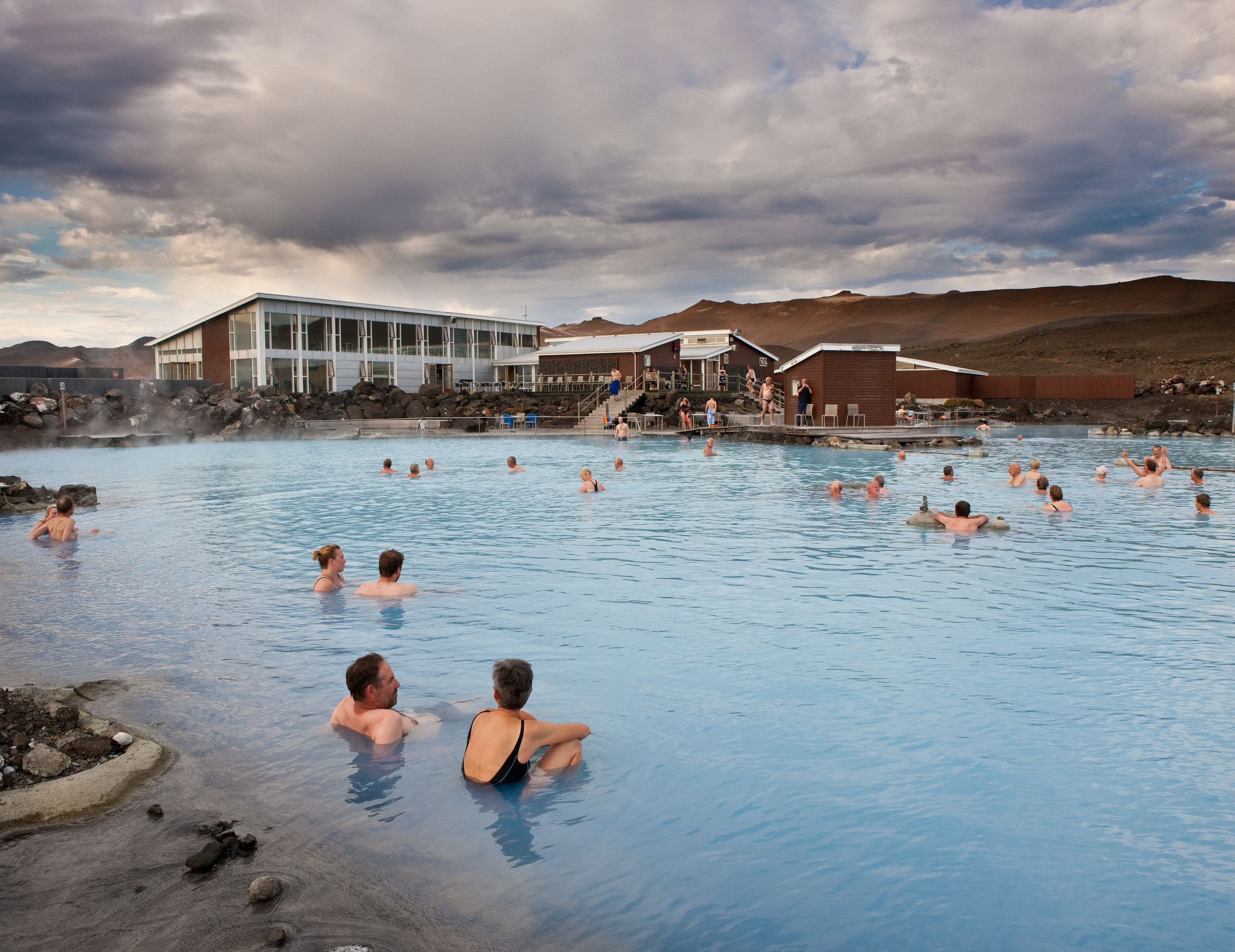 When the frost sets in, the snow is coming down, and the wind is blowing hard, it is time to head for the nearest pool or soak in a geothermal hot spring. The best way to experience the extremes of Icelandic nature is through its stark contrasts.  - Outdoor Bathing