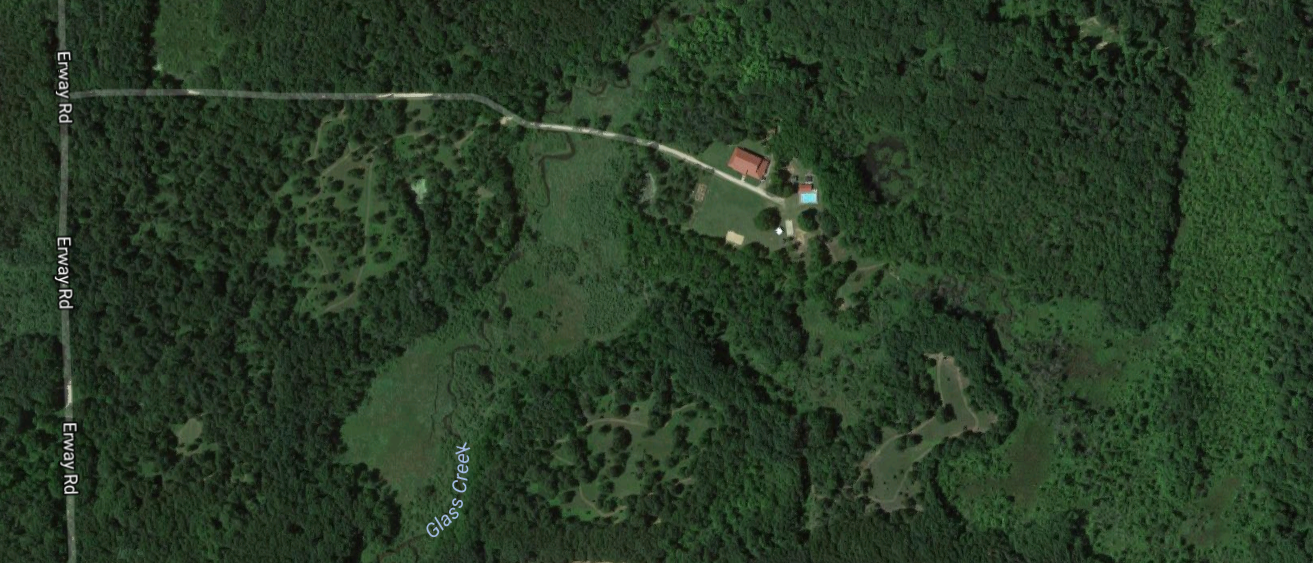 Aerial view of camp - courtesy of Google Maps.