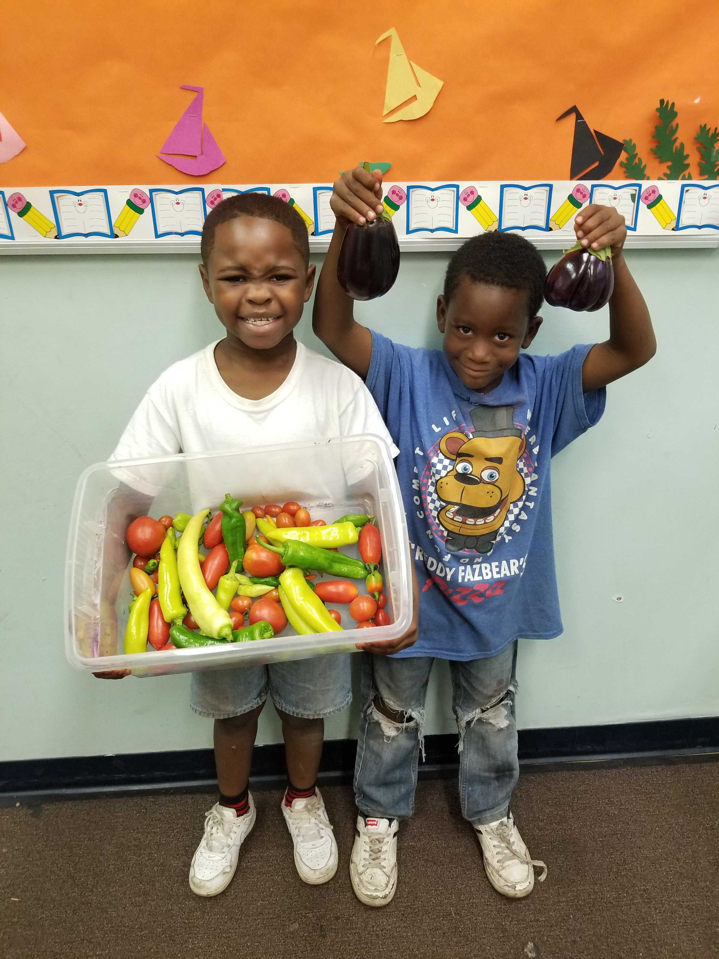 The youth had a blast learning how to garden!