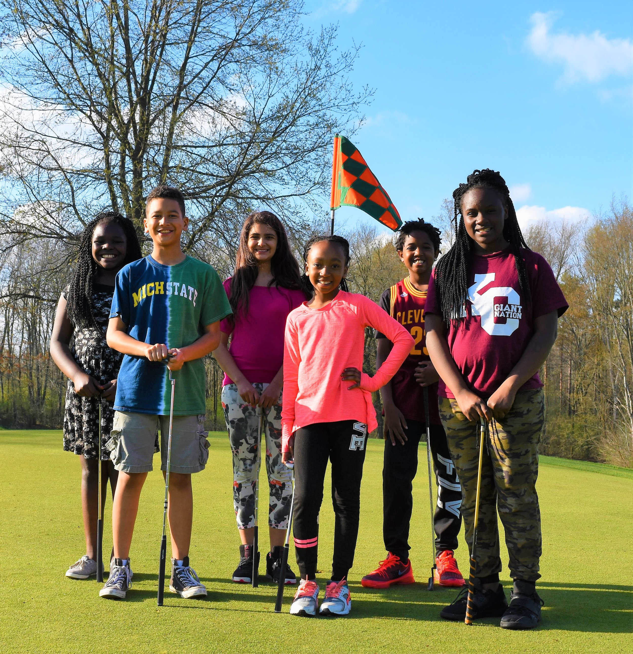 Some youth at Gull Lake View Golf Club & Resort getting the VIP treatment and learning the game!