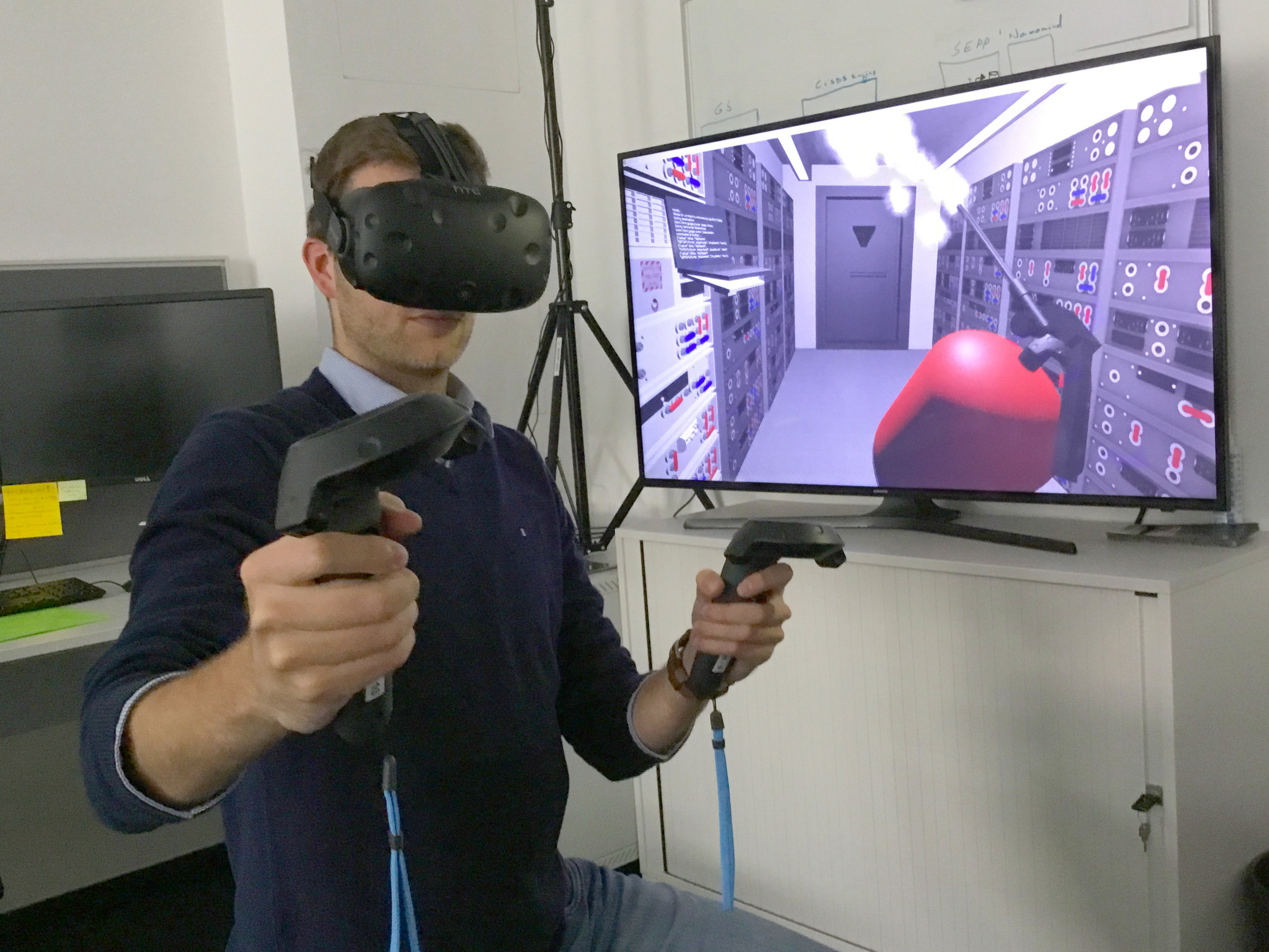 Researchers with the  European Space Agency  in  Darmstadt, Germany , exploring virtual reality for controlling  planetary rovers  and  satellites  in orbit
