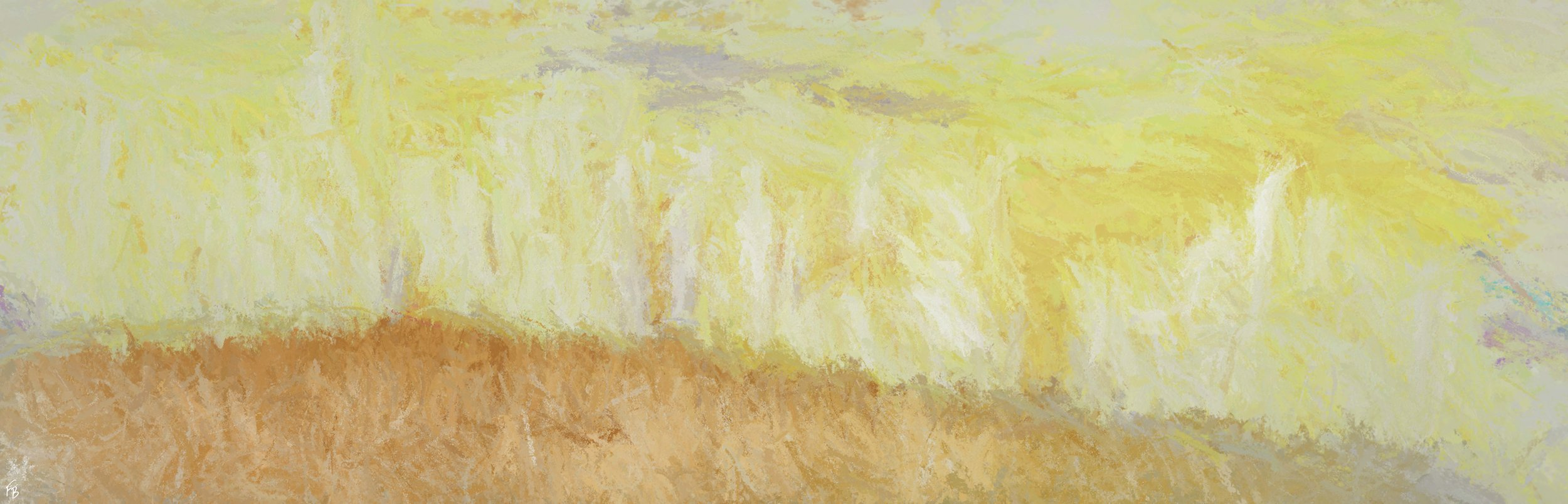 Under a yellow sky - SOLD