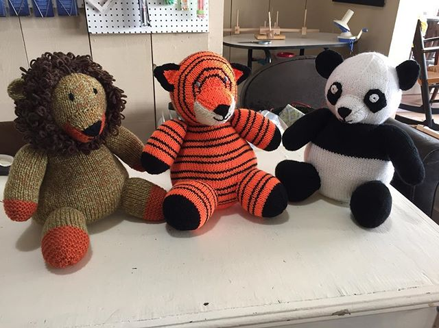 Lions and tigers and... you get the idea. #knitting #animals #handknit #yarnshop #cute #annapolis #downtownannapolis
