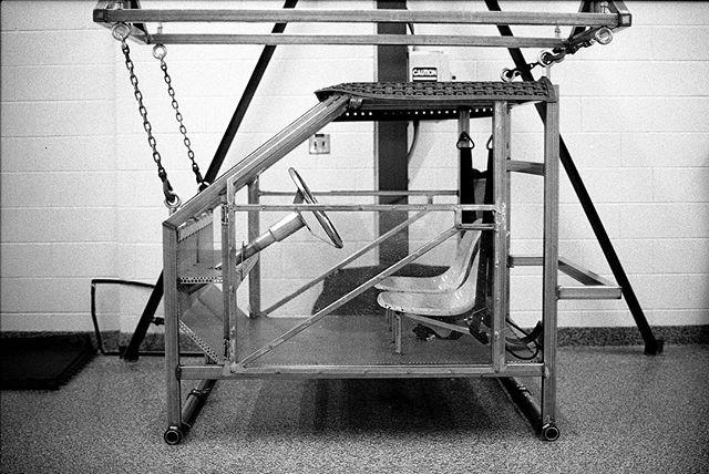 submerged rescue training vehicle.  Michigan State Police Rescue Diving Training Facility, Lansing Michigan. • Nikon F2 Nikkor 55mm, f/1.2 Ilford hp5+ • #nikonf2 #ilfordhp5 #blackandwhite #film #filmisnotdead #filmisalive #filmphotographic #photofilmy #filmphotography #heyfsc #filmcommunity #ishootfilm #believeinfilm #buyfilmnotmegapixels #35mm #35mmfilm #analog #analogphotography #filmcommunity #justgoshoot #staybrokeshootfilm #shotonfilm