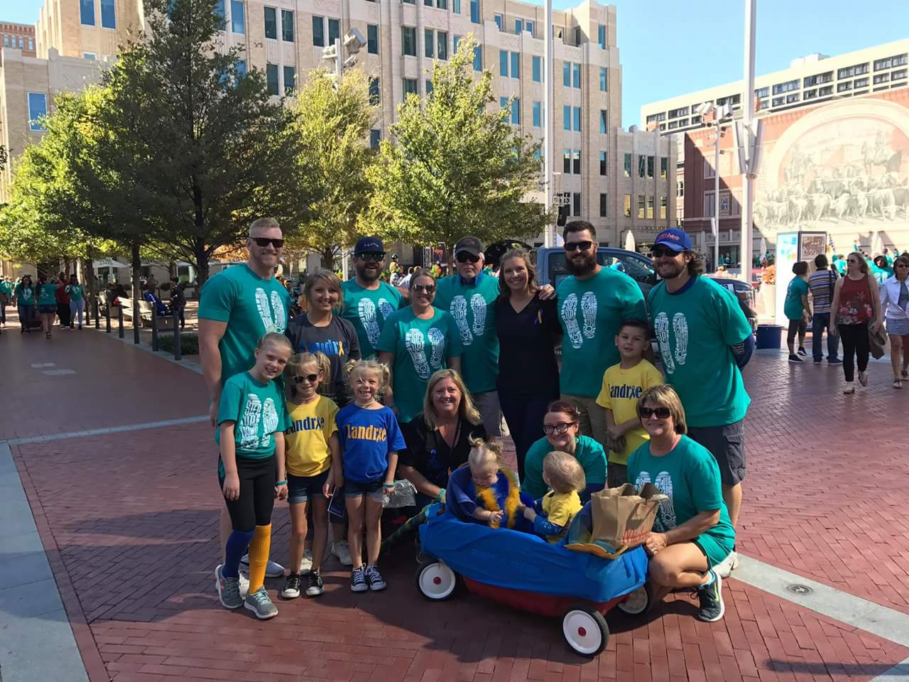 Team Landrie at the 2017 Fort Worth, Texas Buddy Walk