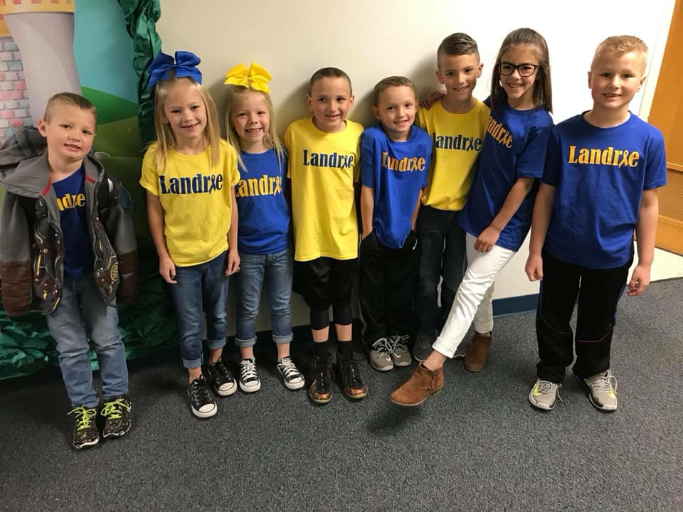 Liberty Elementary School in Azle, Texas supporting Down Syndrome Awareness Month
