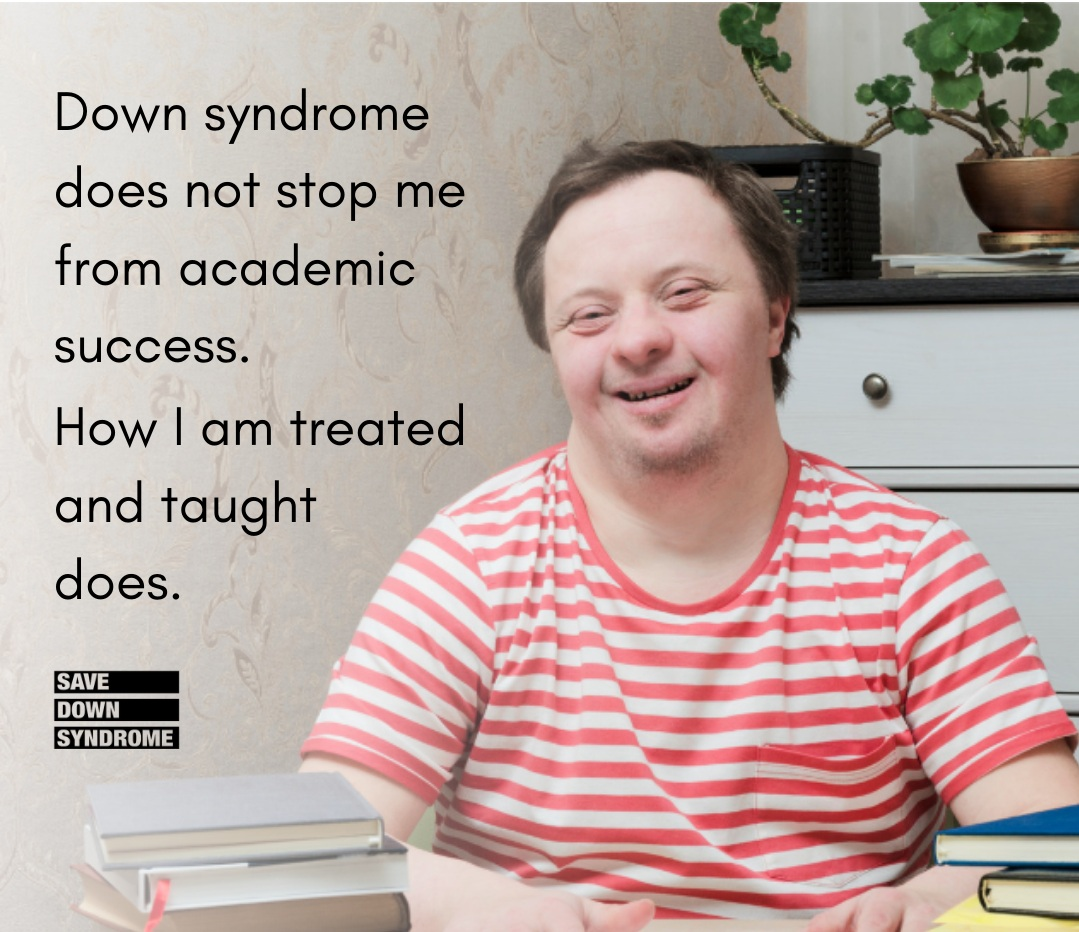 Down syndrome does not hold me back from academic success.png