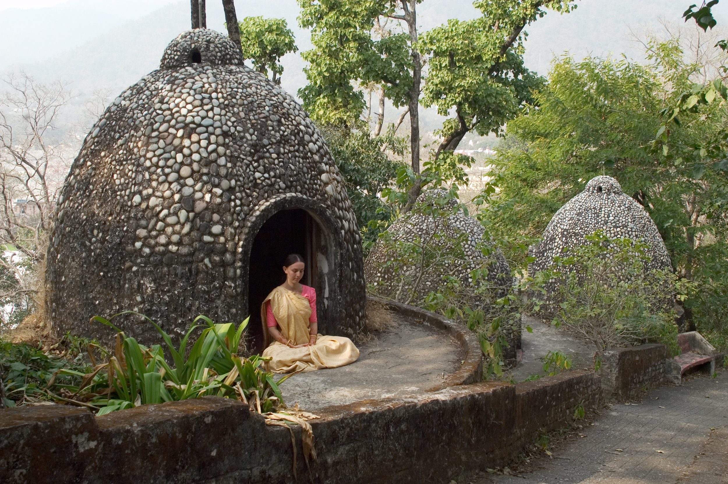 Meditating at Maharishi's ashram | Rishikesh Photo: Mel Sauerbeck