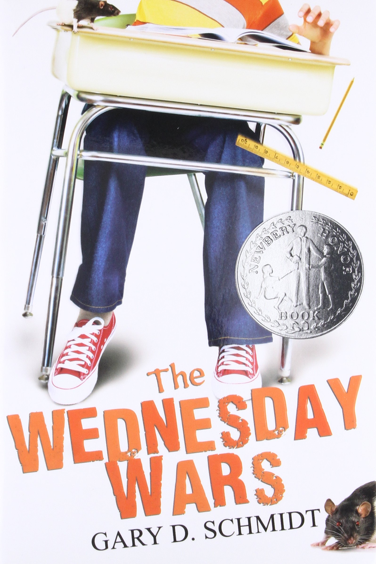 Of all the kids in the seventh grade at Camillo Junior High, there was one kid that Mrs. Baker hated with heat whiter than the sun.   Me.  - -first sentence of The Wednesday Wars by Gary D. Schmidt