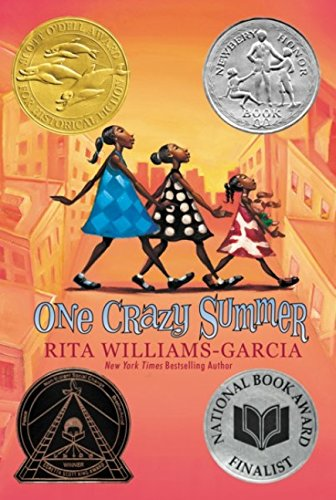 Good thing the plane had seat belts and we'd been strapped in tight before take-ff. Without them, that last jolt would have been enough to throw Vonetta into orbit and Fern across the aisle. Still, I anchored myself and my sisters best as I could to brace us for whatever came next. - -first sentences of One Crazy Summer by Rita Williams-Garcia