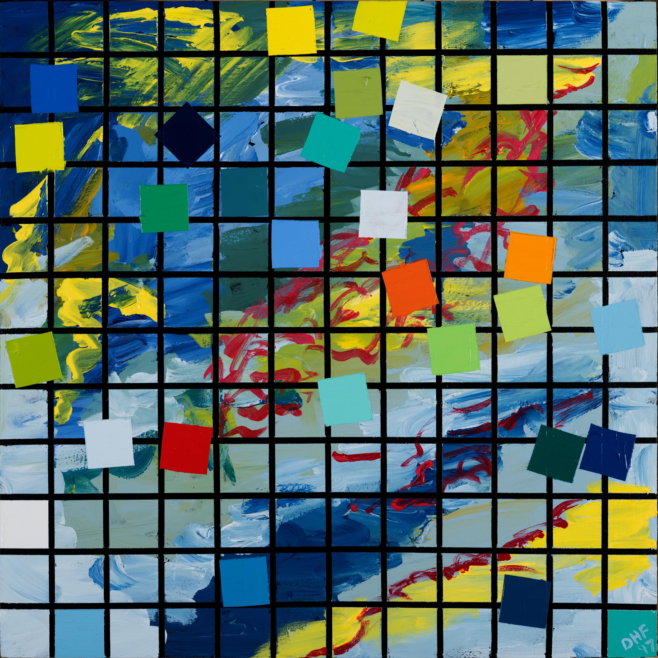 """Kiddie pool, 12""""x12"""", 2017,  acrylic on panel"""