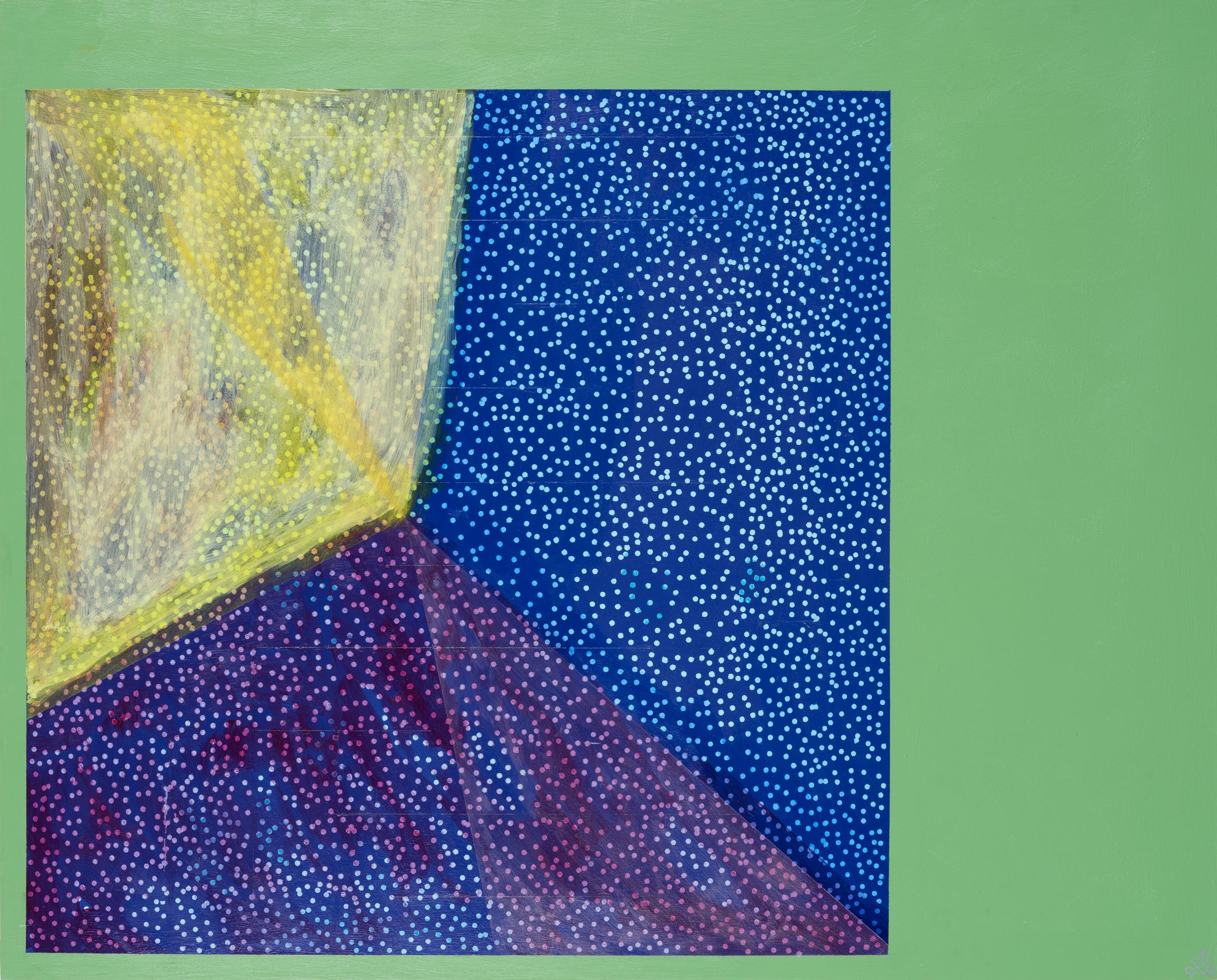 """One Pixel #5, 24""""x30"""", acrylic on panel, 2017"""