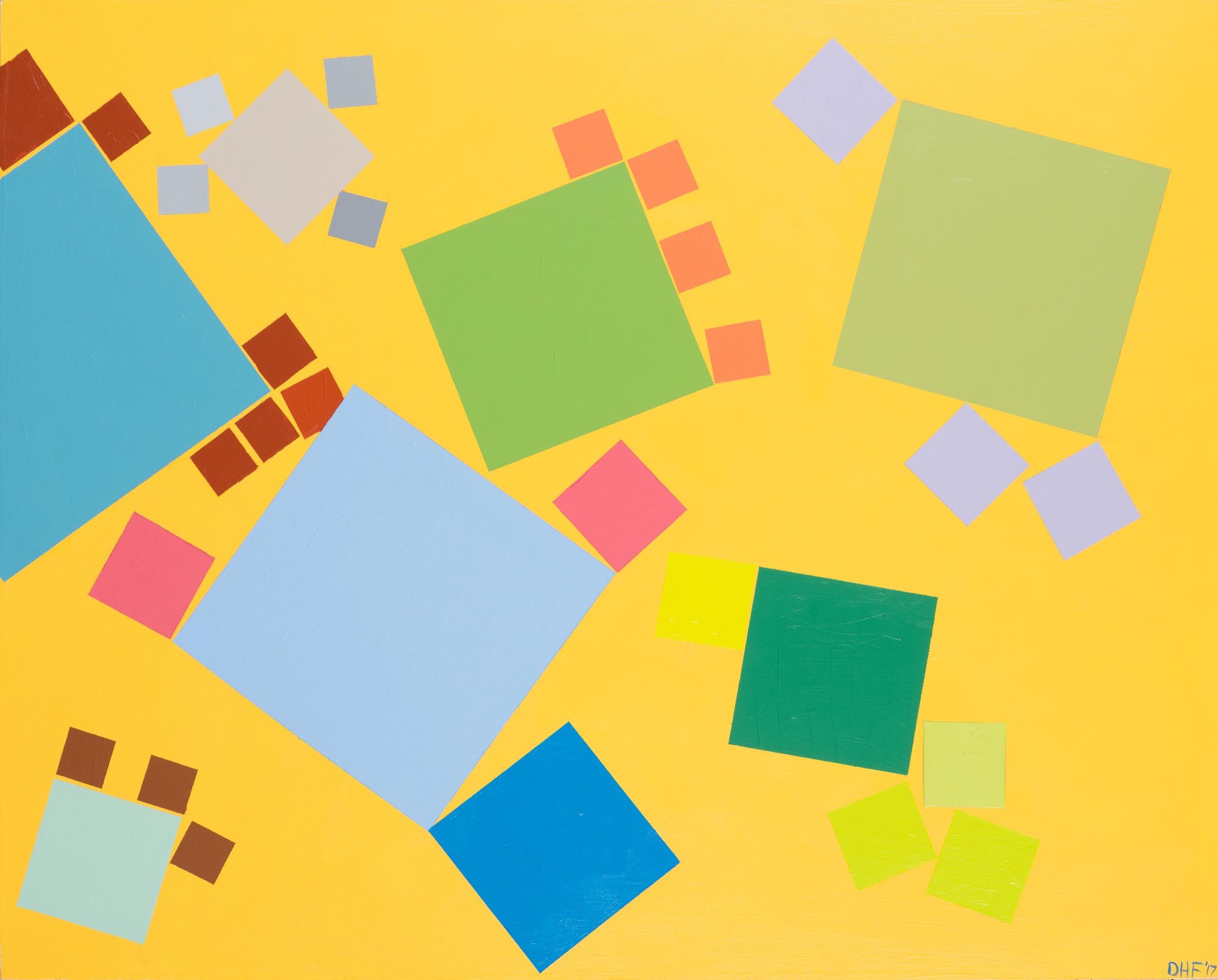 """Molecular Pixels, 24""""x36"""", acrylic on panel, 2017"""