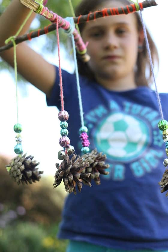 Beautiful Pinecone Mobiles for Kids to Make by Jackie
