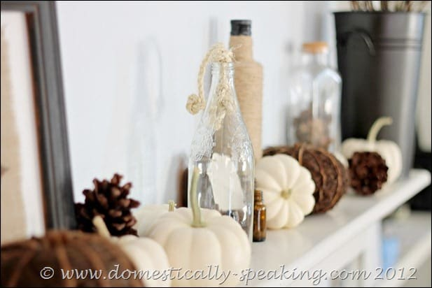 And, nothing quite beats the simplicity and beauty of a fall mantel decorated with natural elements and a classic neutral palette.