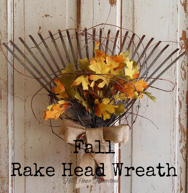 Fall Rake Head Wreath from Connie