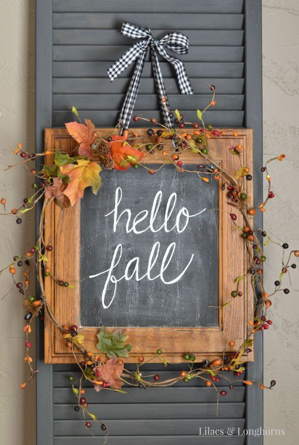 Repurposed Hello Fall Sign by Julie
