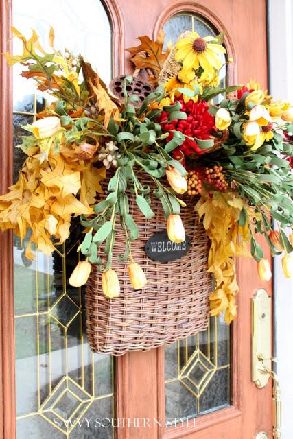 Fall Door Basket by Kim