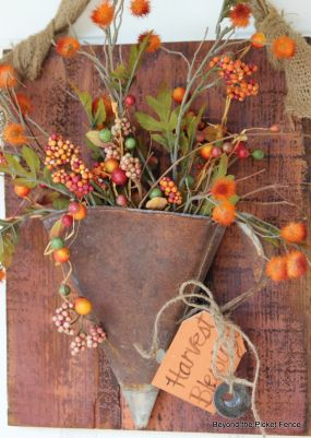 Upcycled Vintage Funnel Wreath by Becky