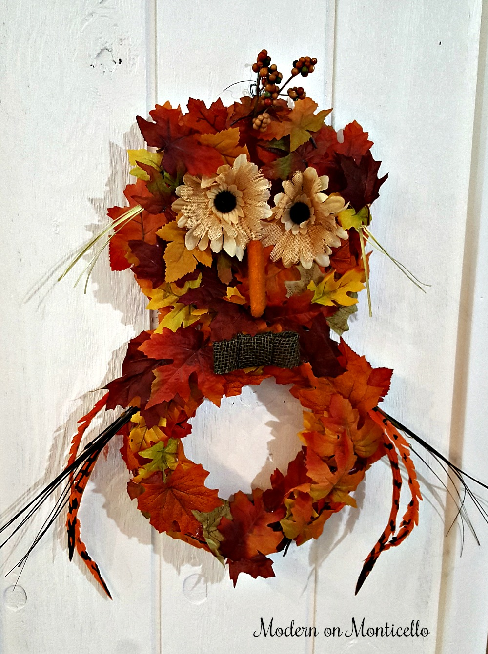 Pier1 Owl Wreath Knock-Off by Donna