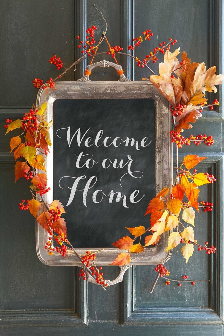 Repurposed Silver Tray Sign from Country Living